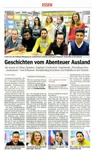 Fremdsprachenassistenten berichten in der Zeitung von ihren Auslandsaufenthalten